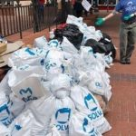 April 17, 2021 - Volunteers from TorZo clean up trash in Downtown Portland